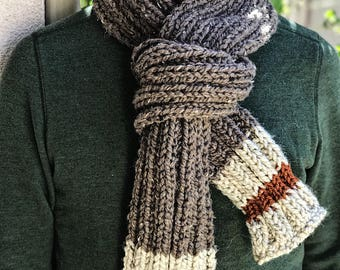 Men's Work Sock Rustic Scarf