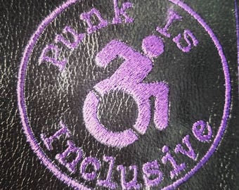 Punk is Inclusive Patch ska hardcore disability