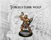 """Figurine héros barbare peinte : """"Torgils sombre loup"""""""