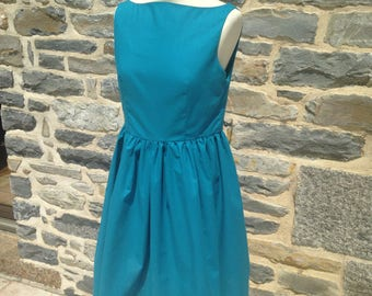 Back blue vintage Dress nude v (sizes 34 to 42)