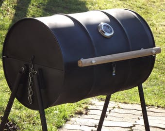 Oil Drum- Barrel Barbecue Smoker BBQ - Charcoal Oil Drum BBQ  #1
