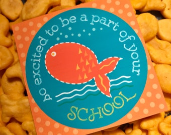 INSTANT DOWNLOAD - School Tag - Excited to be Part of Your School