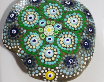 Earthen, Mandala, Painted Rock Mandala, Painted Rock Art, Acrylic Painted Rock Art, Rock Art, A-Rock-A-Day, Daily Meditation