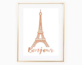 Eiffel Tower Wall Art, Eiffel Tower Printable, Paris Print, Eiffel Tower Decor, Eiffel Tower Download, Paris Decor, Paris Design, Paris Art