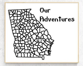 "Georgia - Our Adventures Vinyl Decal (9.1"" x 10.8"")"