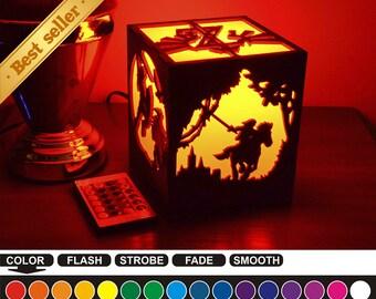Zelda, Zelda color nightlight, Zelda color lantern, color led nightlight, color led lantern, wood nightlight, wood lantern, Zelda-2