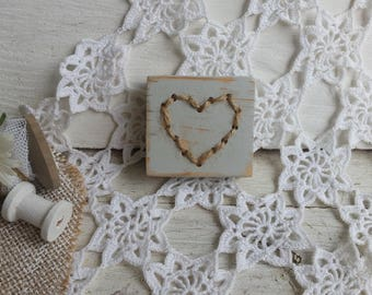 Small wood sign - grey - shabby