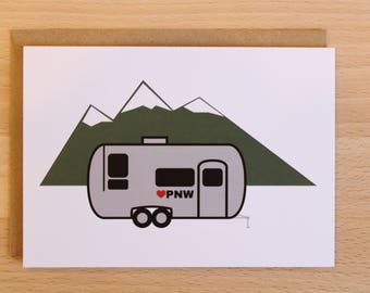 PNW Airstream Greeting Card