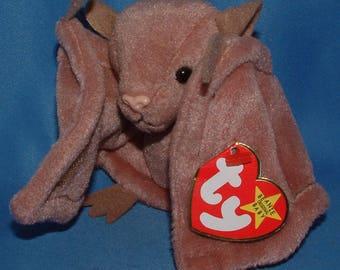 Ty Beanie Baby Batty the Brown Bat - MWMT
