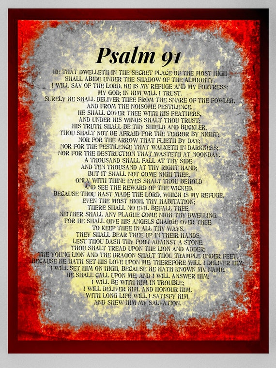 picture relating to Psalm 91 Printable titled Account Of Psalms 91 Offers of the Working day