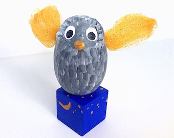 Owl, Imagination, Bird Toy, Wooden Toy, Handmade Toy, Pretend Play, Playroom, Learning, Playroom Decor, Moon