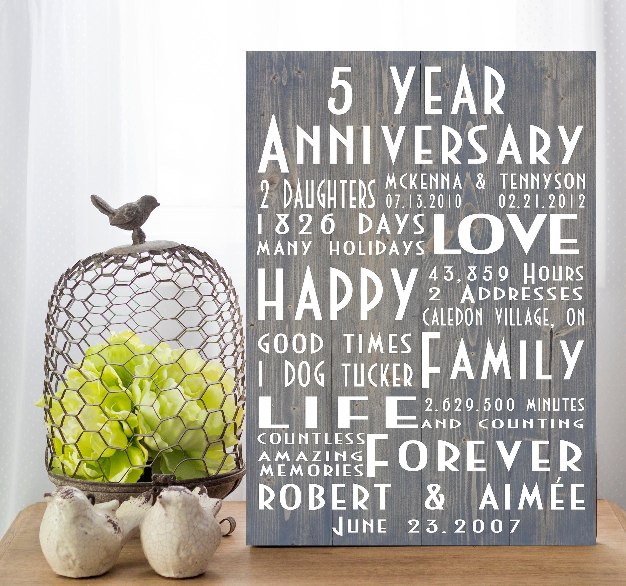 5 year anniversary silverware