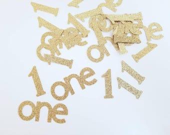 1st Birthday Gold Confetti | One 1st Birthday Gold Confetti | One 1st Birthday Confetti | One Gold Confetti | 1st Birthday Party Decorations
