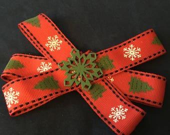 Snowflake Christmas Bow