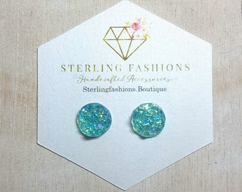 Small - Clear Teal Druzy