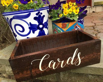 WEDDING CARD BOX, Rustic Wooden Card Box