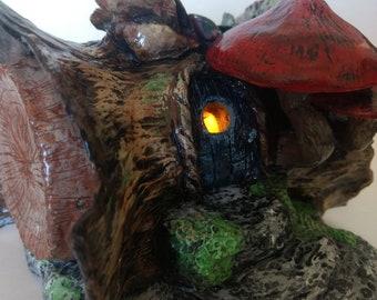 "Fairy house nightlight ""fallen tree"""