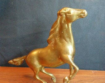 Cast brass horse decor