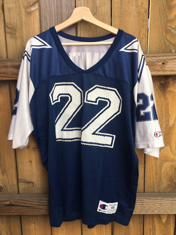66700297f ... Vintage NFL Champion Jersey Dallas Cowboys Emmitt Smith ...
