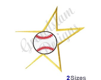 Baseball Star - Machine Embroidery Design