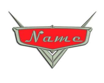 Disney Cars Embroidery design - Frame - Machine embroidery design - NushNusha shop