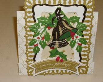 Christmas Bells Center Step Card