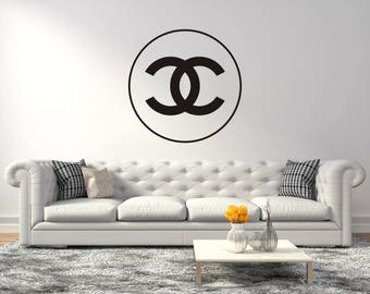 Chanel Design Logo   Wall Decal For Home Living Room Or Bedroom Decoration