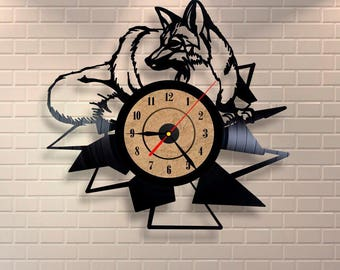 Peaceful Hipster gift vinyl wall record clock made of 12'' LP.