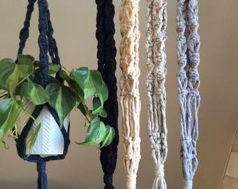 Madeline* Small plant hanger, macrame plant hanger, cotton string hanger, coloured  otton, bohemian decor, plant display