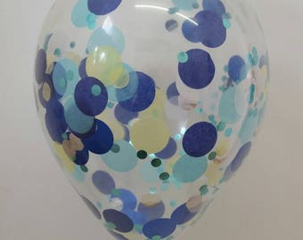 Cinderella Confetti Balloons, pretty confetti filled Clear Balloons for a Cinderella Party or Princess Party.