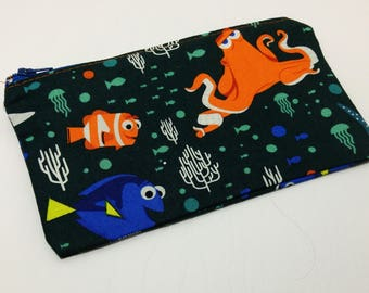 Finding Dory Novelty Zipper Pouch - makeup bag; pencil case; gift for her; cosmetic bag; carry all; gadget case; birthday
