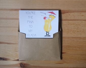 Pina To My Colada Greeting Card