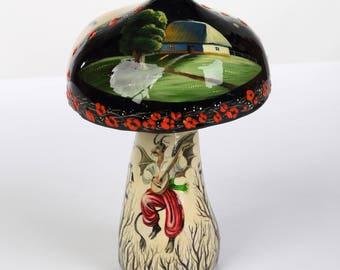 Ukrainian Miniature Painting Petrykivka Figurine Ukrainian Art Petrykivka Handmade Gift Art Collectibles Art Decor Gift Ideas