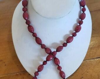 Fashion red  Cinnabar  necklace