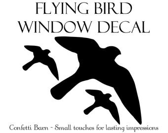 Bird Window Decal - Window Cling - Static Window Decal - Removable Vinyl #90