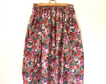 Liberty of London Flowr Print Skirt with Pockets  - Size Small