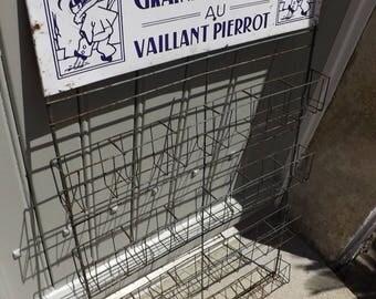 Vintage French  Shop Display Rack
