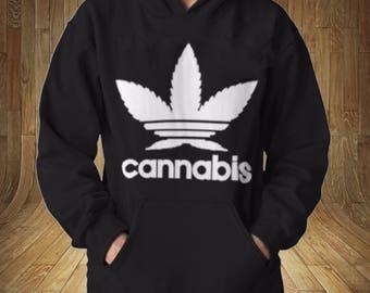 Cannabis Famous Logo Mockery Funny Sweatshirt Hoodie