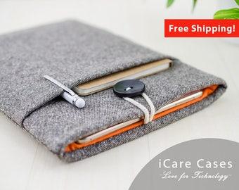 iPad Pro 9.7 Case Apple iPad Pro iPad Case 2017 iPad 3Rd Generation Protective iPad Cases iPad Pro 10.5 Cover Sleeve Brown Tweed Wool Orange