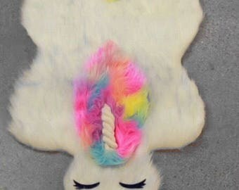 girls bedroom rug. Unicorn rug  Rug Fur Bedroom Girls Etsy