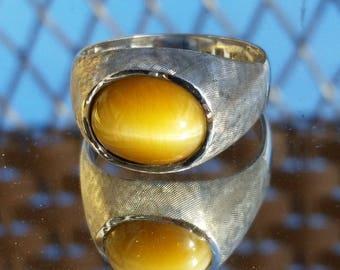 Vintage Men's 10K Tiger Eye Ring