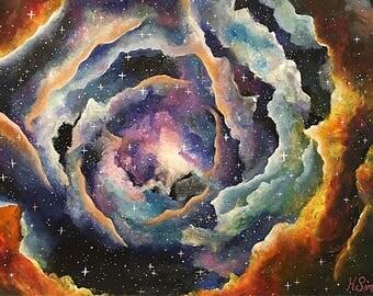 Cosmic Rose - Fine Art Print From An Original Artwork