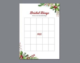 Bridal Bingo, Bridal Shower Games Printable, Empty Bingo Cards, Christmas Candy, Winter Festival, Bachelorette Bingo, Wedding Shower, A025
