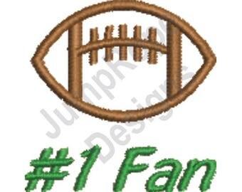 Football #1 Fan - Machine Embroidery Design
