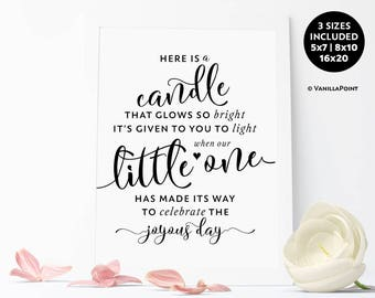 Printable Baby Shower Favor Sign Candles Baby Shower Sign, Baby Shower Candle Favors Baby Shower Decorations Neutral Baptism Favors Girl Boy