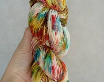 """100% Macomerinos """"Paint chips"""" hand dyed wool"""