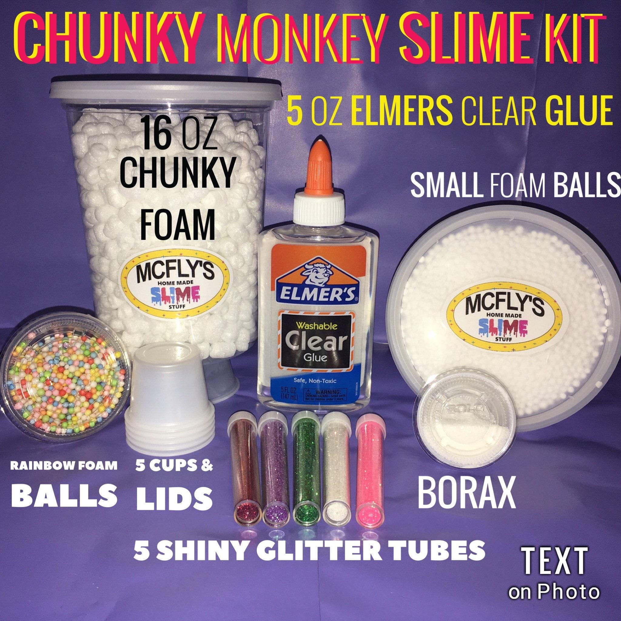 Slime kit chunky monkey with elmers clear glue rainbow beads - E glue espana ...