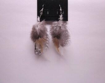 Handmade Feather earrings!