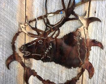 Elk Bear Tooth Necklack Metal Art