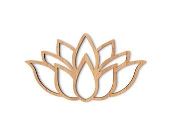 Lotus Flower wood cutout